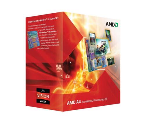 Процессор AMD A4-3300 2.5GHz/1MB/4000MHz (AD3300OJGXBOX) SFM1 BOX