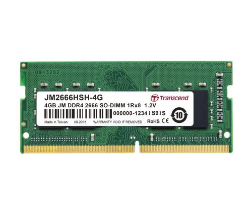 Оперативная память Transcend JetRam SO-DIMM DDR4-2666 4GB PC4-21300 (JM2666HSH-4G)